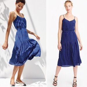 NEW J Crew Silk Polka Dot Spaghetti Strap Dress 6